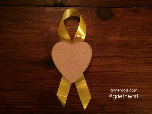 Suicide awareness heart