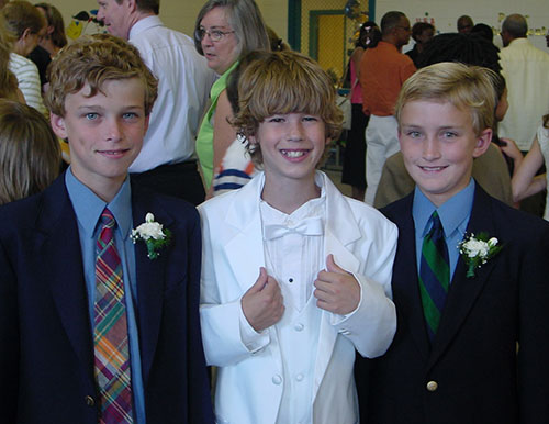 white tux for 5th grade graduation