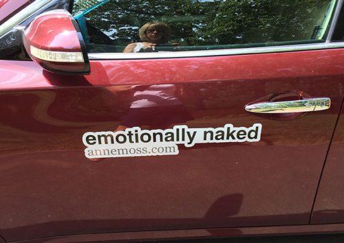 emotionally naked car magnet