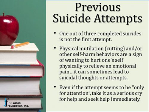 Previous suicide attempts are serious predictor of future completed suicide