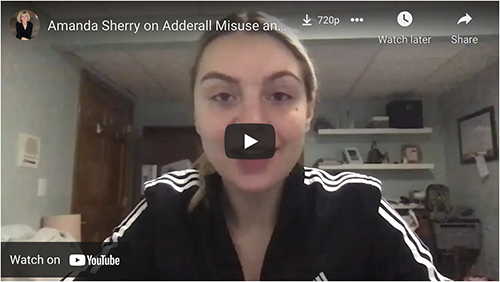 Video: Amanda talks about the dangers of Adderall and Suicide