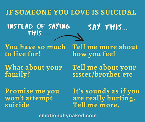 say this not that suicide