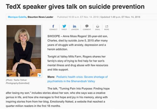 Speaker in suicide prevention